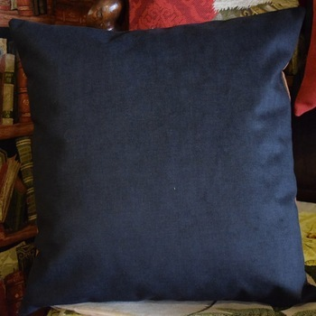 """""""Books & coral""""  Belgian Tapestry cushion"""