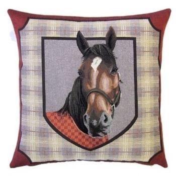 """""""Paard I"""" Belgische tapisserie kussen"""