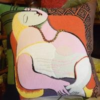 """""""De droom, Pablo Picasso""""  Belgische tapisserie kussen"""