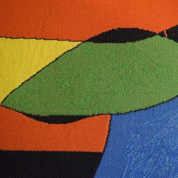 """""""Woman, bird, star, Miro """" Belgium Tapestry cushion"""