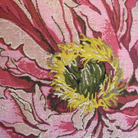 """""""Roze roos, beige""""  Belgische tapisserie kussen"""