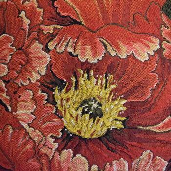 """""""Oranje roos, beige""""  Belgische tapisserie kussen"""