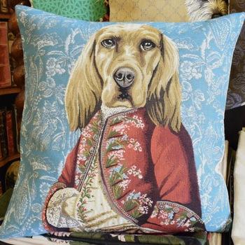 """""""Mister cocker""""  Belgium Tapestry cushion"""