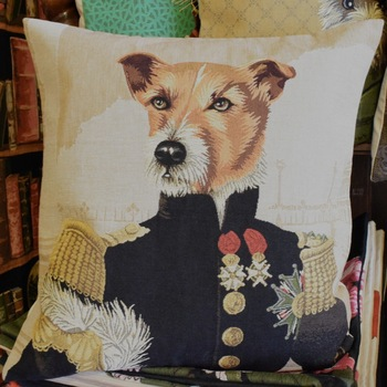 """Sir Jack Russel""  Belgium Tapestry cushion"