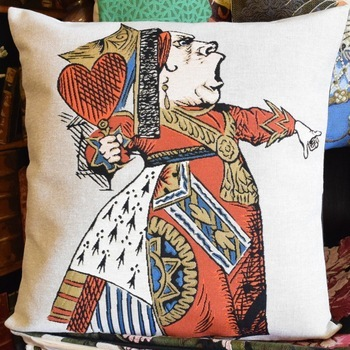 """""""Alice in wonderland, The red queen""""  Belgium Tapestry cushion"""