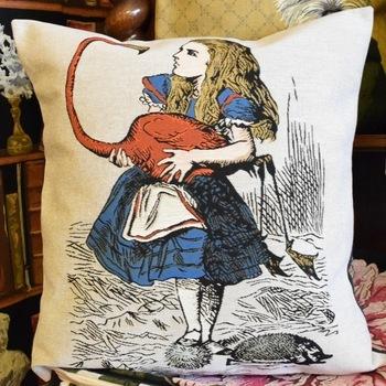 """Alice in wonderland, Alice""  Belgium Tapestry cushion"