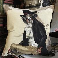 """Berner Sennenhond dressed up"" (beige) Belgium Tapestry cushion"