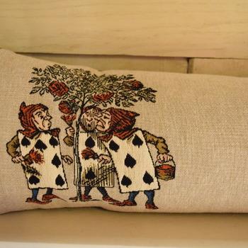 """Alice in wonderland 25x90 cm  """"Belgium Tapestry cushion"""""""