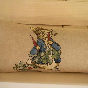 "Beatrix Potter I 25x90 cm   ""Belgium Tapestry cushion"""