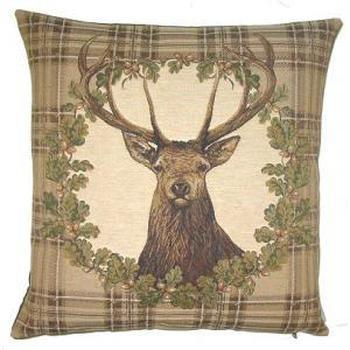 """""""Cerf couronne"""" Tapisserie Belge coussin"""