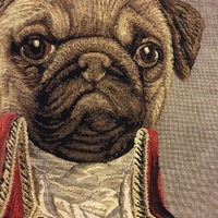 Belgium tapestry Wallhanging. Thierry Poncelet - Pug