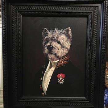 """Thierry poncelet"" dog portrait reproduction westy"