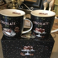 2 mugs chocolate 350ML