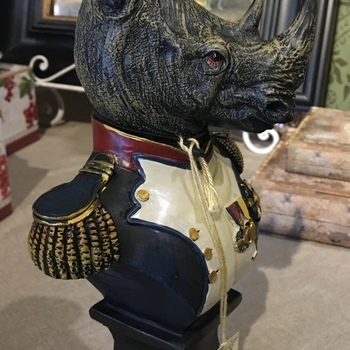 Dressed up Rhino bust