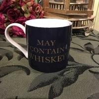"Porseleinen Tas ""May contain whiskey"""