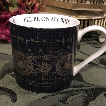 "Mug ""i""ll be on my bike"""