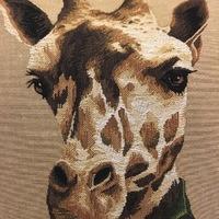"""Girafe habillée coussin """"Tapisserie Belge coussin"""""""