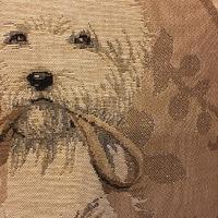 Westy beige kussen  Belgische tapisserie kussen