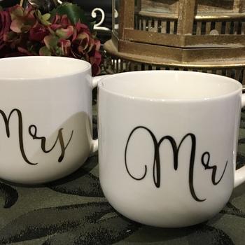 Mrs & Mr mugs Set van 2