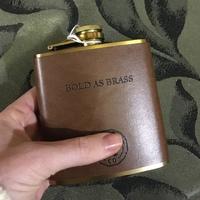 """Hip flasks  """"Bold As Brass"""""""