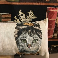 "Cats 25x90 cm  ""Belgium Tapestry cushion"""