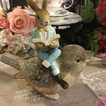Deco konijn en vogel