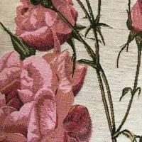 """""""Roze rozen II """"  Belgische tapisserie kussen"""