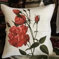 """""""Rode rozen II """"  Belgische tapisserie kussen"""