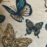 """Vlinder  """"Belgische tapisserie kussen"""""""