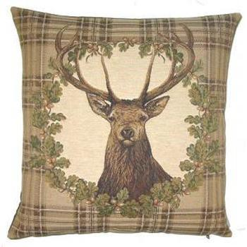 """""""Stage wreath"""" Belgian Tapestry cushion"""
