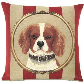 """Cavalier King Charles"" Belgium Tapestry cushion"