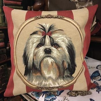 """Shi-tzu"" Belgium Tapestry cushion"
