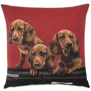 """Teckel red"" Belgian Tapestry cushion"
