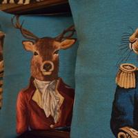 Belgische tapisserie kussens _ Huis de zomer_Brugge Deer pillow cushion cover