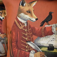 Belgium tapestry pillow cushion cover - Huis de zomer - Bruges Dressed up Fox pillow cushion cover