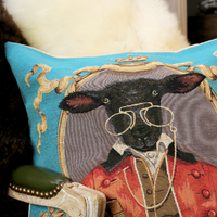 Belgium tapestry pillow cushion cover - Huis de zomer - Bruges