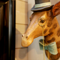 Interior decoration dressed up giraffe- Huis de zomer- Bruges