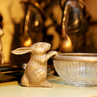 Interior decoration brons rabbit - Huis de zomer- Bruges
